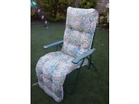 Very comfy ultra padded sun lounger!