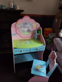 Kids dresser and chair