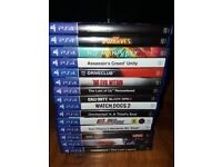 ps4 games all individually priced and in excellent condition