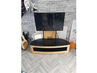 32 inch tv and Hanging oak tv stand for up to 60 inch tv