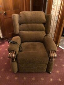 Willowbrook Reclining Chair - Serenity style, brown, vgc