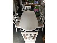 Gorgeous Shabby Chic extending kitchen table and 4 chairs