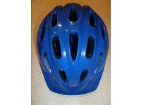 Childs Halfords blue cycle helmet
