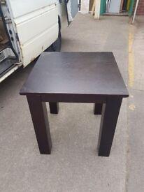 Dark Wooden Pub tables 70cms square wooden pub tables