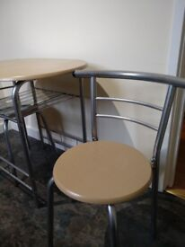 Nice kitchen table with two chairs