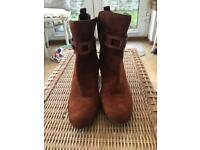 Next Tan Suede boots size 8