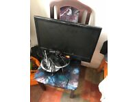 19 inch aim tv with separate free view box and aireal