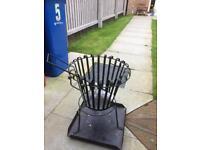 Steel outdoor fire basket