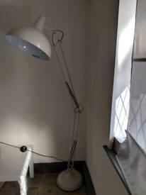 Giant retro anglepoise style floor lamp light