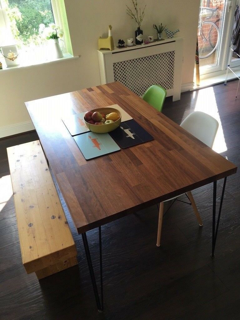 Incredible Handmade Solid Iroko Wood Dining Table Set Wooden Bench Modern Chairs In Norwich Norfolk Gumtree Machost Co Dining Chair Design Ideas Machostcouk