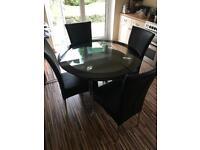 Black round kitchen/dining table