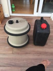 Water roller and water waste bottles