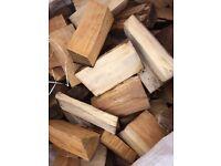 Seasoned split HARDWOOD firewood logs for Firepit, open Fire and wood burning Stoves