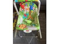 Fisher price bouncer and toddler chair