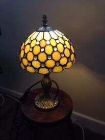 Tiffany Style Lamp with glass shade all in excellent condition.