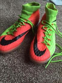 Nike hyper venom orange/ green futsal shoes