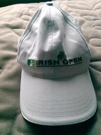 Northern Ireland jacket and Irish open baseball cap.