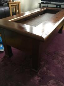 Wooden table with draws solid antique