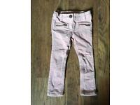 Pink next girls corduroy trousers 3y