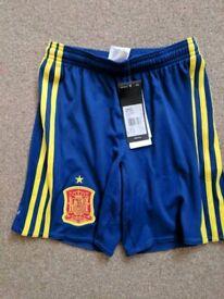 Brand New Boys Adidas Spain Shorts - Age 9/10