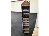 Wicker and Chrome Floor Standing DVD / CD Rack (£12 each, £20 for both)