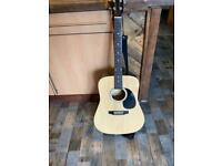 Acoustic fender squier guitar,