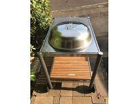 Large BBQ - Granite Top and Teak Shelf - John Lewis