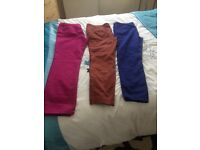 3pairs of ladies jeans ,worn once but like new