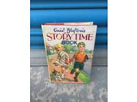 Vintage retro ENID BLYTON STORY TIME BOOK HB 1964 with Illustrated Dust Jacket SDHC