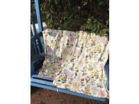 Quality vintage botanical Curtains fabric cushions flowers cottage