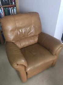 Leather electric recliner chair