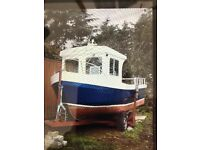 24ft fibreglass fishing boat and trailer