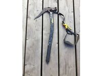 grivel axe and hammer set. plus 2 spare pics length 52 cms