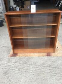 Side board with glass doors/ shelves/bookcase