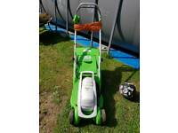 Viking electric lawnmower lightweight with long cable