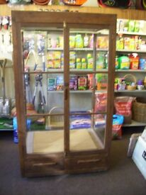 Solid Oak Display Cabinet Hand Made