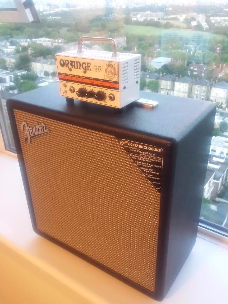 Orange Micro Terror Guitar Amp & Fender Super Champ SC112 Cabinet ...
