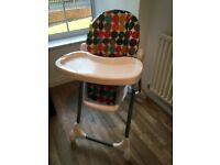 Mamas and Papas High Chair Polkerdot Adjustable Height Great Condition