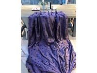 Full length Curtains in Plum Floral