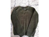 Green knit jumper age 12-13 New Look