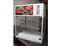 Commercial Rotating Hot Food Warmer Display .