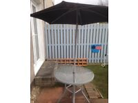 Table and Parasol