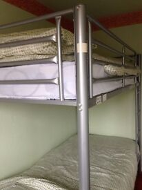 mettle framed bunk beds plus bed linen