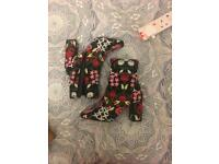Embroidered boots size 6