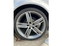"""Audi s3 19"""" alloys and tyres"""