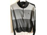 Puma Golf Mens GoTime 1/4 Zip Cotton Sweater - Size Medium