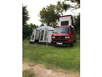 Khyam motordome classic 380 easy erect driveaway awning with sleeper tent