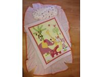 Lambs & Ivy Bedtime Originals Lil' Friends Cot Bed Bedding (Set of 3) - As-New Condition