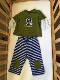 3-6 months baby t-shirt & trouser set x5