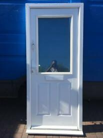 Used Upvc White Front Composite Door